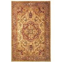 """Safavieh Handmade Classic Heriz Gold/ Red Wool Rug - 8'3"""" x 11'"""
