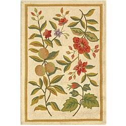 Safavieh Hand-hooked Garden Ivory Wool Rug (1'8 x 2'6)