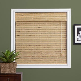 Arlo Blinds Petite Rustique Bamboo Roman Shade with 98 Inch Height