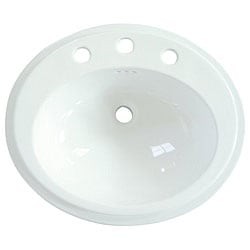 Eden Round Surface-mount China Sink