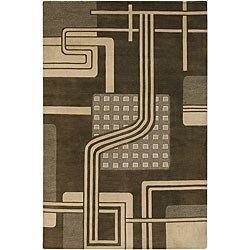 Artist's Loom Hand-knotted Contemporary Geometric Wool Rug (7'9x10'6)