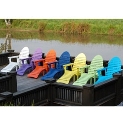 Cedar Fish-shaped Adirondack Chair with Ottoman. Opens flyout.