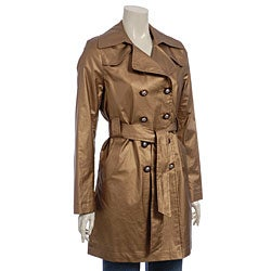 Via Spiga Women's Bronze Fashion Trench Coat - Thumbnail 0