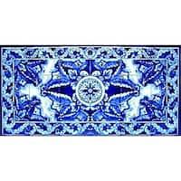 Antique Looking Persian Area Rug Architectural Borazjan Design 18 Ceramic Tile Wall Art