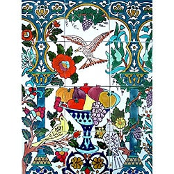 Backsplash Flying Bird 12-tile Ceramic Wall Mural