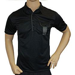 Travis Mathew Men's Black Double Pocket Polo Golf Shirt - Thumbnail 0