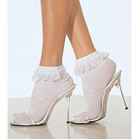 Leg Avenue Ruffled Lace Ankle Socks