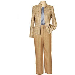 Austin Reed Women S 3 Piece Tweed Pant Suit Overstock 3858441