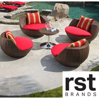 Shop Rst Cantina 5 Piece Outdoor Seating Set Free