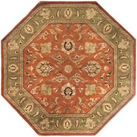 Hand Tufted Camelot Collection Wool Area Rug (8' Octagonal)