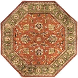 Hand Tufted Camelot Collection Wool Rug (8' Octagonal)
