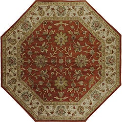 Hand-tufted Camelot Oriental Wool Rug (8' Octagon)