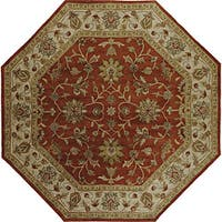 Hand-tufted Camelot Oriental Wool Area Rug (8' Octagon)