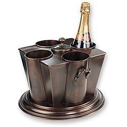 Antique Embossed 4-bottle Wine Chiller