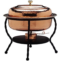 Oval Copper Chafing Dish