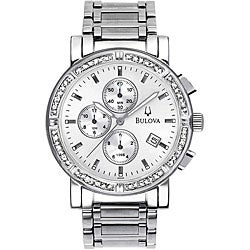 Bulova Men's Diamond-accented Chronograph Watch