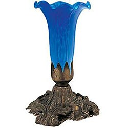 Tiffany-style 8-inch Blue Buffet Lamp
