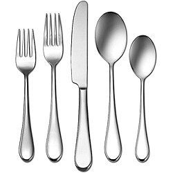 Oneida Icarus Stainless Steel 45-Piece Flatware Set -Service for 8