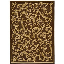 Safavieh Mayaguana Brown/ Natural Indoor/ Outdoor Rug (2'7 x 5') - 2'7 x 5' - Thumbnail 0
