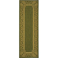 Safavieh Abaco Olive Green/ Natural Indoor/ Outdoor Runner (2'4 x 6'7)