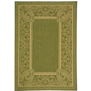 Safavieh Abaco Olive Green/ Natural Indoor/ Outdoor Rug (4' x 5'7)
