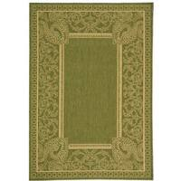 Safavieh Abaco Olive Green/ Natural Indoor/ Outdoor Rug - 4' x 5'7