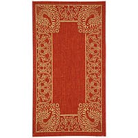 Safavieh Abaco Red/ Natural Indoor/ Outdoor Rug - 2' x 3'7