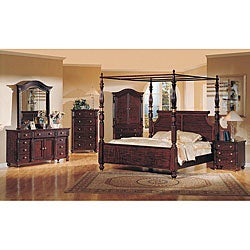 Eden 4 Piece Poster Canopy King Size Bedroom Set Free