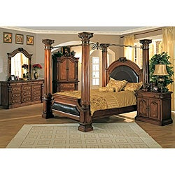 Classic Canopy Poster King Size 4 Piece Bedroom Set Free Shipping Today O