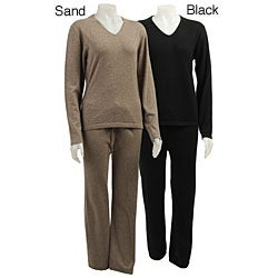 Cashmere Showroom Women's Cashmere Pajamas - Free Shipping Today ...
