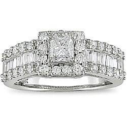 Miadora Signature Collection 14k Gold 1-3/8ct TDW Diamond Engagement Ring