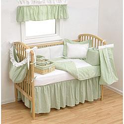 Shop Trend Lab Sage Gingham 4 Piece Crib Bedding Set