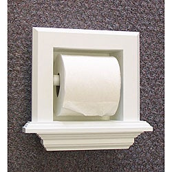 Bevel frame recessed toilet paper holder free shipping on orders over 45 - Ceramic recessed toilet roll holder ...