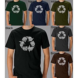 Los Angeles Pop Art Mens Recycle Symbol T-shirt