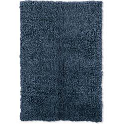Thumbnail 1, Flokati Denim Blue Area Rug (5' x 8').