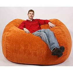 Original Fuf 7 Foot Xxl Orange Bean Bag Lounge Chair Overstock 3938964