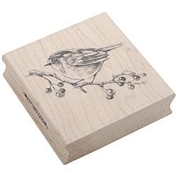 Inkadinkado Rubber/ Wood 'English Robin' Stamp - Thumbnail 0