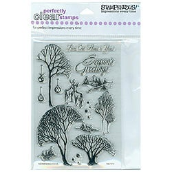 Thumbnail 1, Stampendous 'Winter Trees' Clear Stamps.