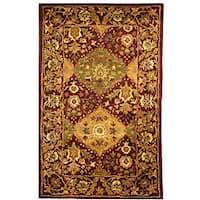 Safavieh Handmade Tabriz Wine Wool Runner (2'3 x 4')