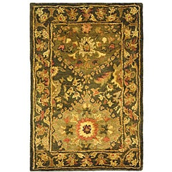 Safavieh Handmade Tabriz Olive Wool Rug (2' x 3')