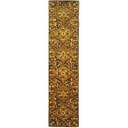 Safavieh Handmade Tabriz Olive Wool Runner (2'3 x 12')