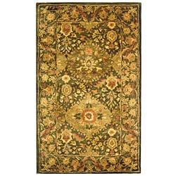 Safavieh Handmade Tabriz Olive Wool Runner (2'3 x 4')