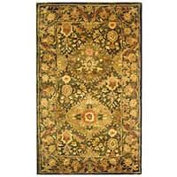 Safavieh Handmade Tabriz Olive Wool Runner Rug