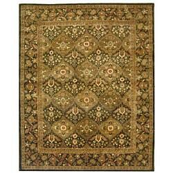 Safavieh Handmade Tabriz Olive Wool Rug - 9'6 x 13'6 - Thumbnail 0