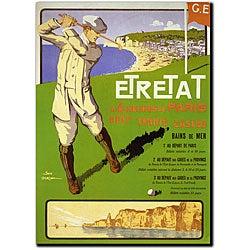 Geo Dorival 'Etretat' Gallery-wrapped Art