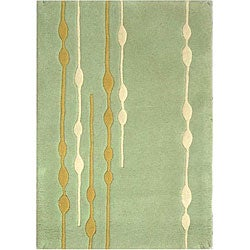 Safavieh Handmade Soho Vines Mint Green New Zealand Wool Rug (2' x 3')