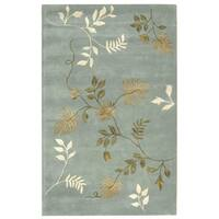 Safavieh Handmade Soho Twigs Light Blue New Zealand Wool Rug - 3'6' x 5'6'