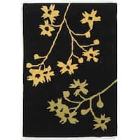 Safavieh Handmade Soho Autumn Black New Zealand Wool Rug - 2' x 3'