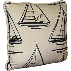 Thumbnail 1, Micro Plush Printed Sailboat Pillow.