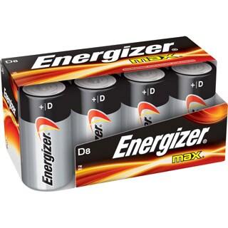 D Cell Alkaline Battery Bulk Pack - 8-Pack